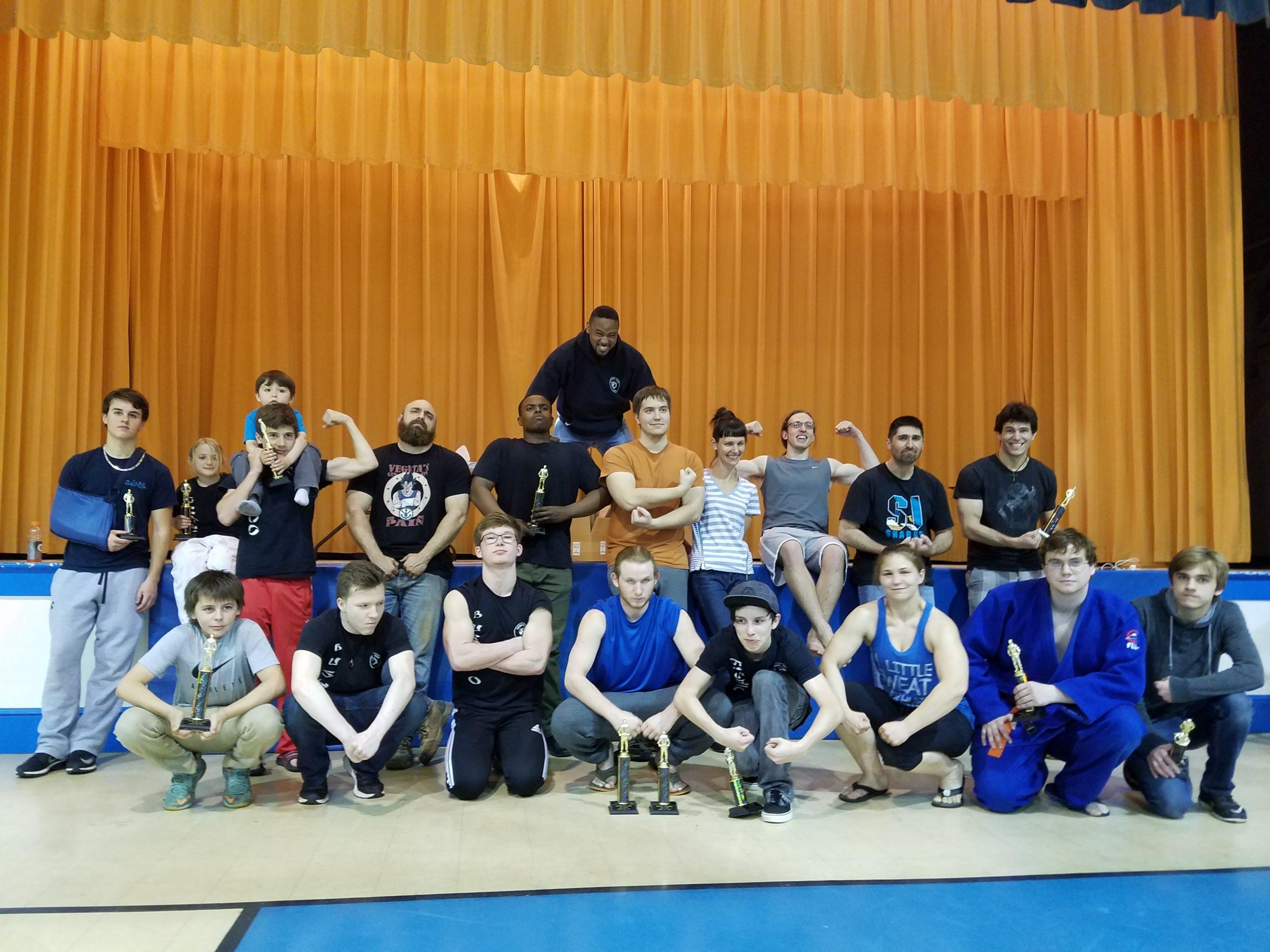 Bushido Judo Flexing for Group Photo